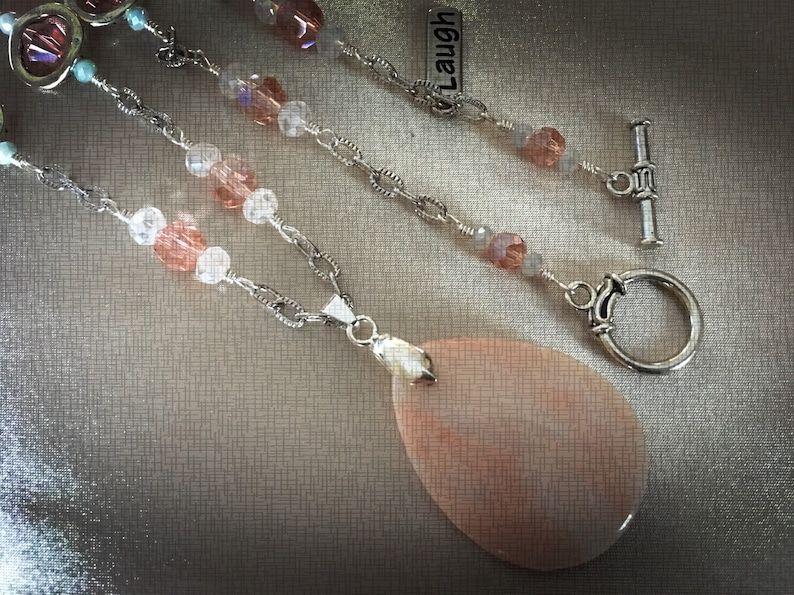 This Uniquely Handcrafted Semi Precious Morganite Necklace | Etsy