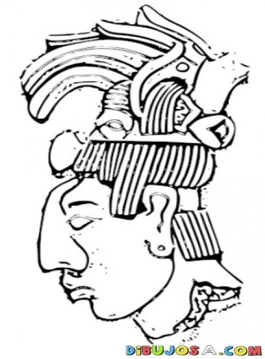 Colorear Rostro Maya   COLOREAR MAYAS   Pintar un rostro maya ...