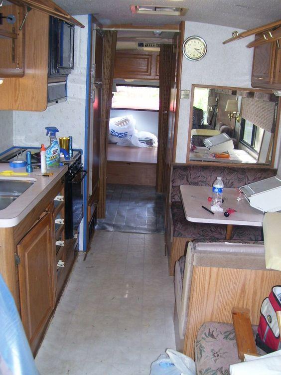 Camper Renovation Ideas | RV Remodeling Ideas: RV Kitchen Cabinets