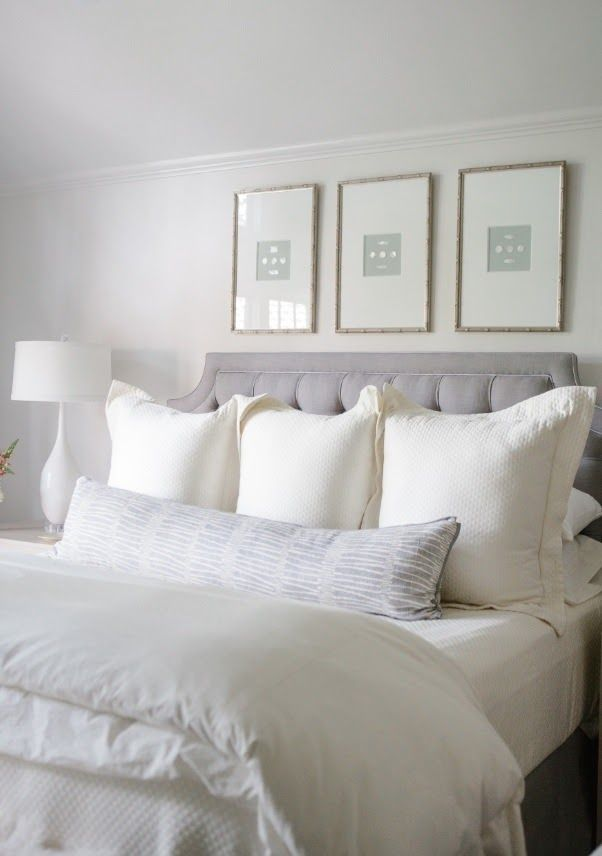 Master bedroom decor above bed
