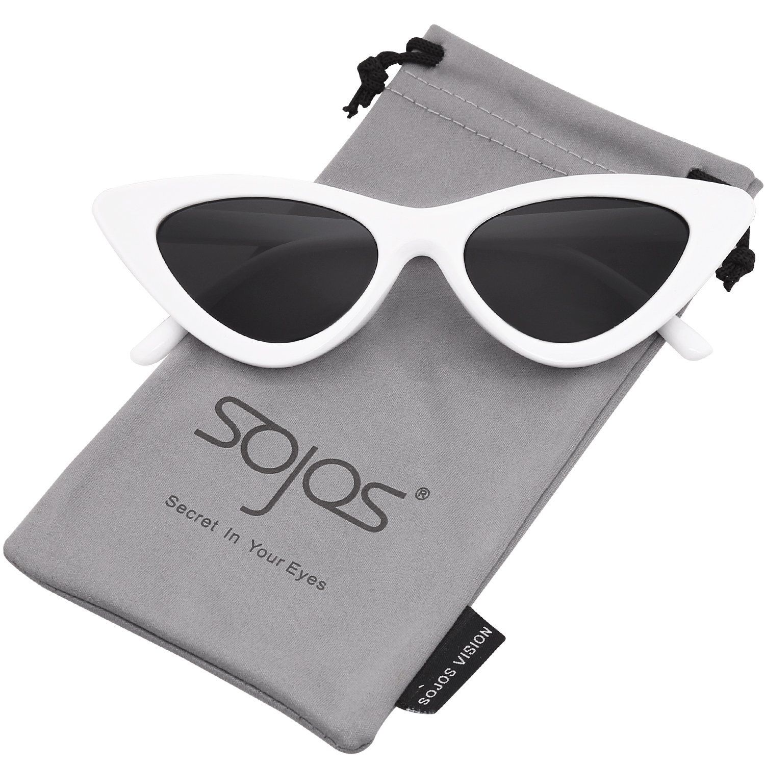 SOJOS Clout Goggles Cat Eye Sunglasses Vintage Mod Style