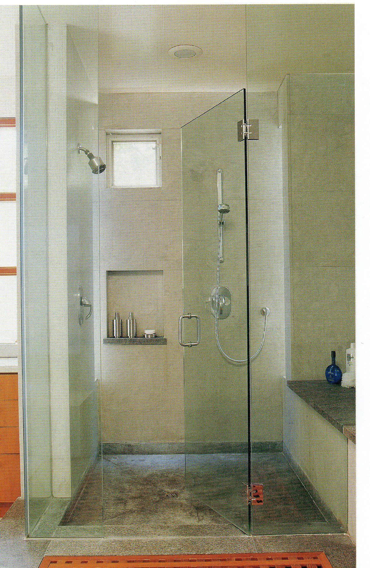 Large Shower Bench Cubby And Small Window Bathrooms