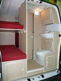 r sultat de recherche d 39 images pour fourgon amenage 4 places avec lits superposes open road. Black Bedroom Furniture Sets. Home Design Ideas