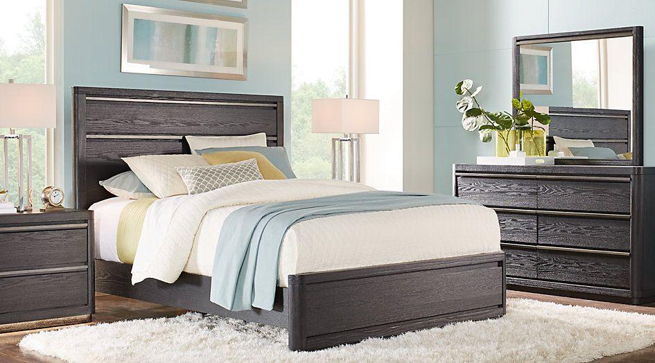 Morningside Heights Black 7 Pc Queen Bedroom From Furniture Brilliant Black Queen Bedroom Sets Design Inspiration