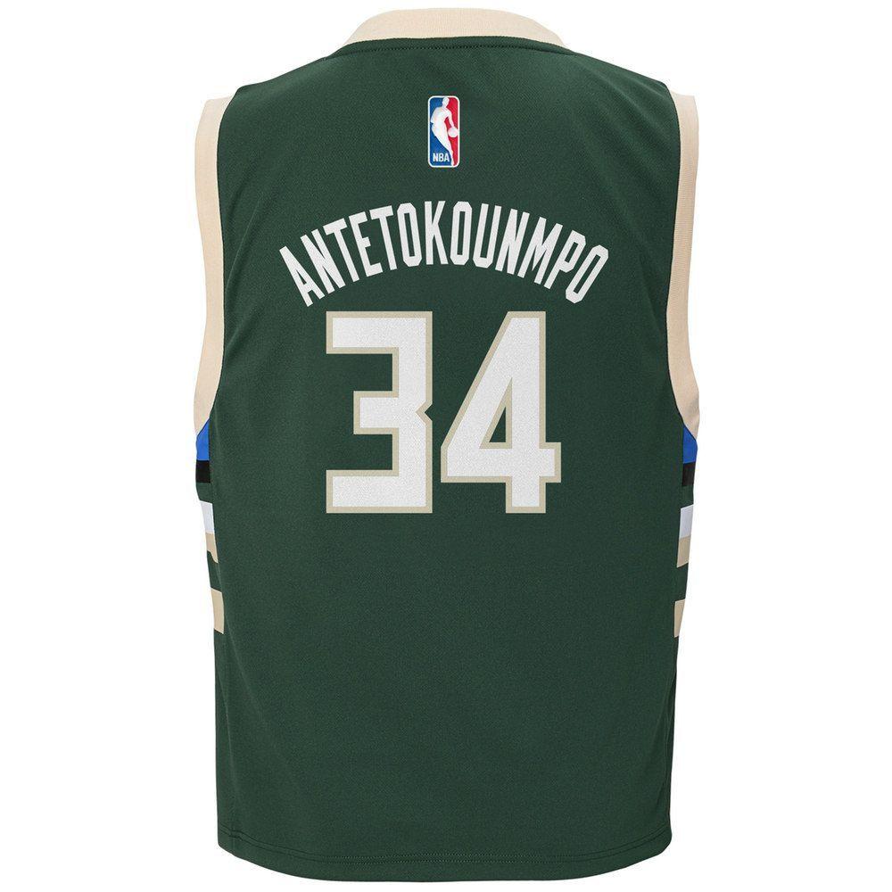 Boys Milwaukee Bucks Giannis Antetokounmpo Replica Road Jersey, Size: S  Green