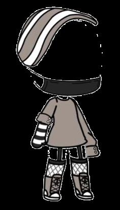 Gachalife Gacha Life Aesthetic Black White Hoodie