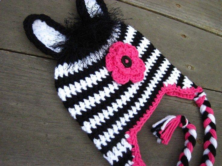 Pattern Zebra Hat Crochet PDF - complete instructions for ...