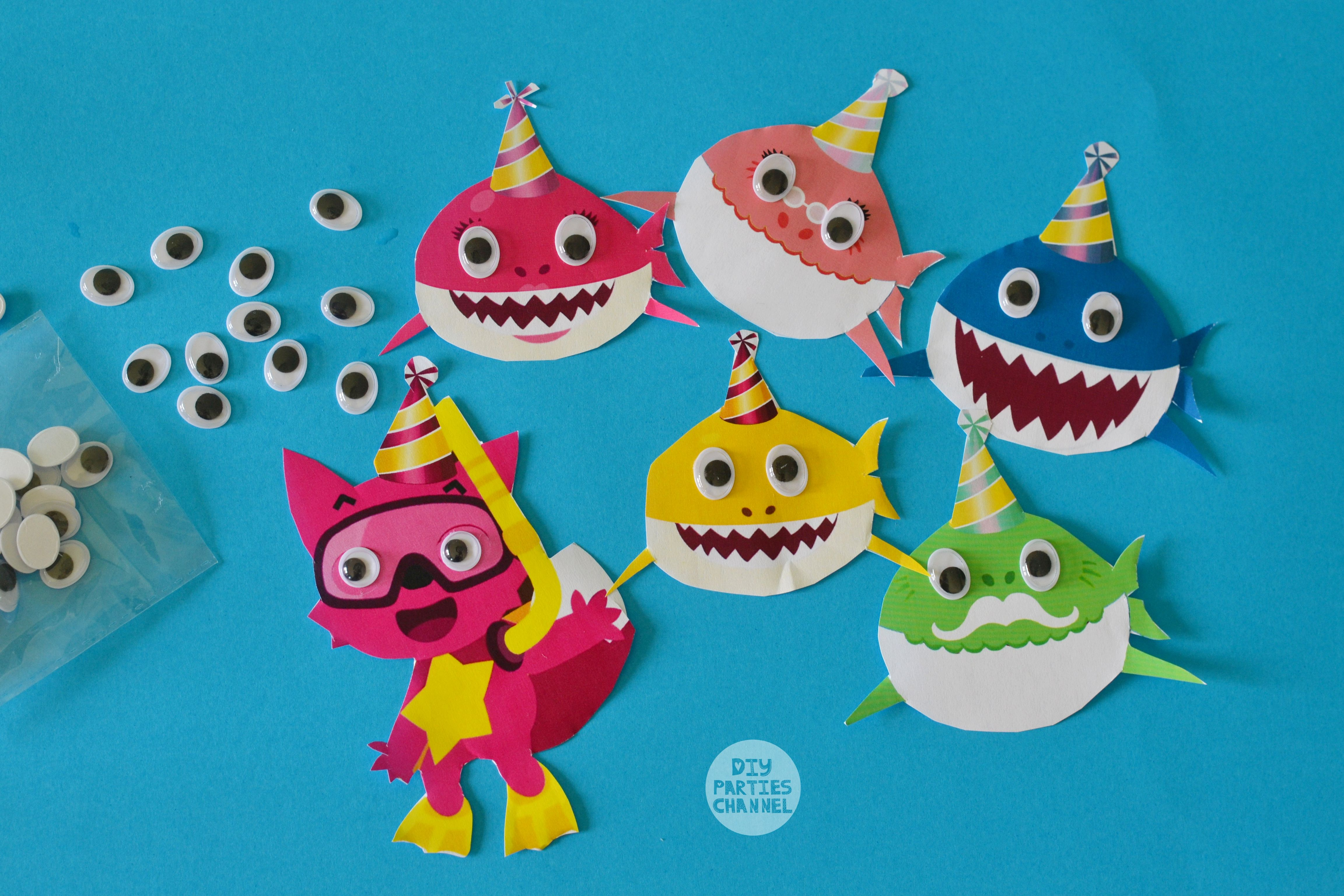 Diy Baby Shark Song Party Decoration Decor Crafts Under