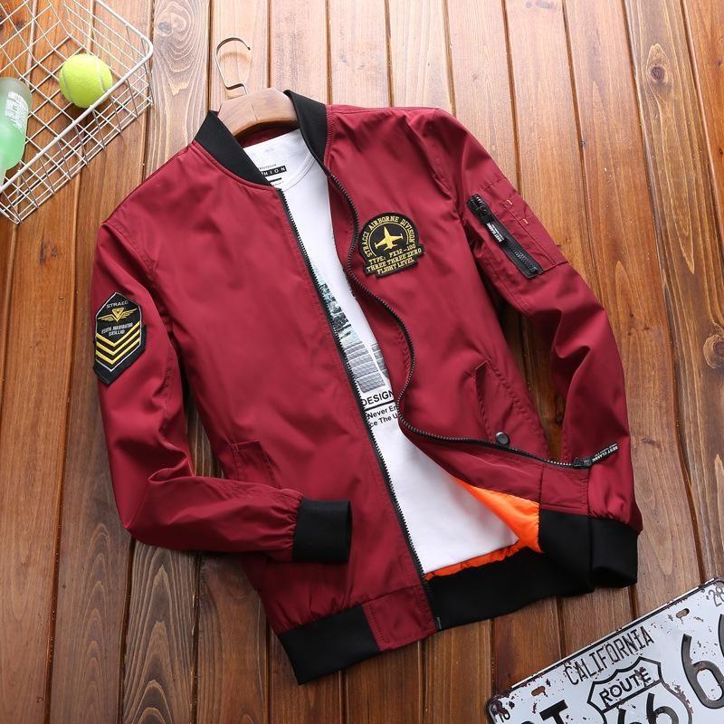 Military Coat Men Fashion Stand Collar Fitness Men Jacket