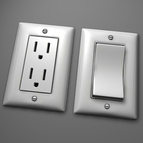 3D Wall Switch Electrical Outlet Model 3D Model DGTP1