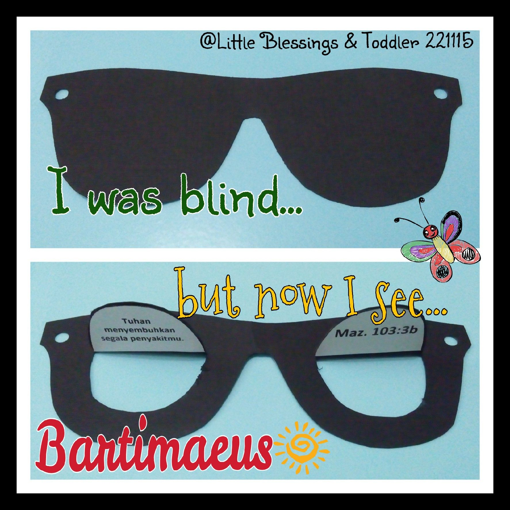 small resolution of Bartimaeus. I was blind but now I see.   Childrens church lessons
