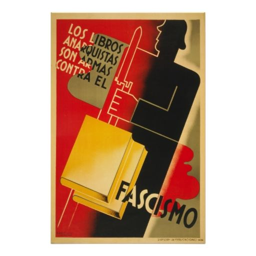 Spanish Civil War Anarchist    Facism Poster