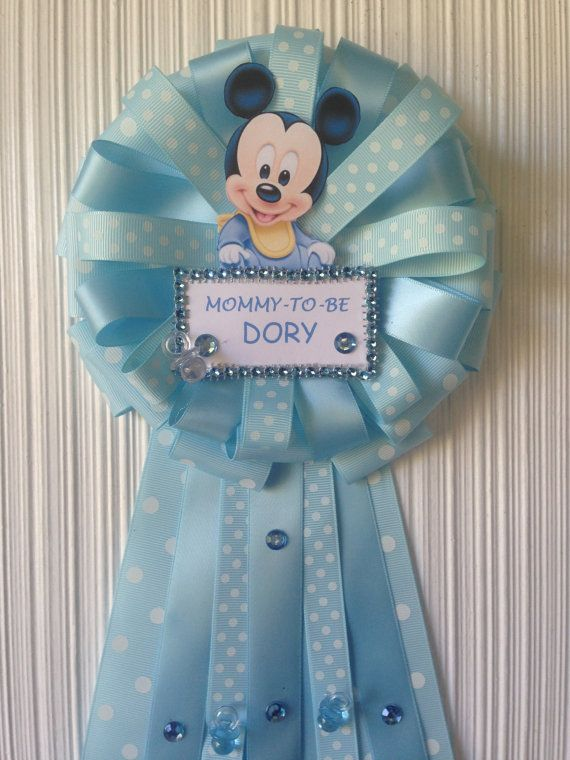 Mommy To Be Baby Shower Corsage Mickey By Designsbyemilys On Etsy
