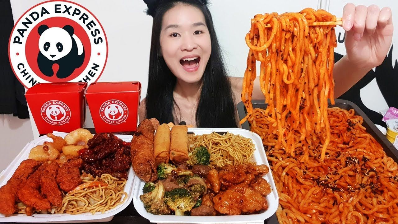 Extremely spicy udon noodles panda express feast orange
