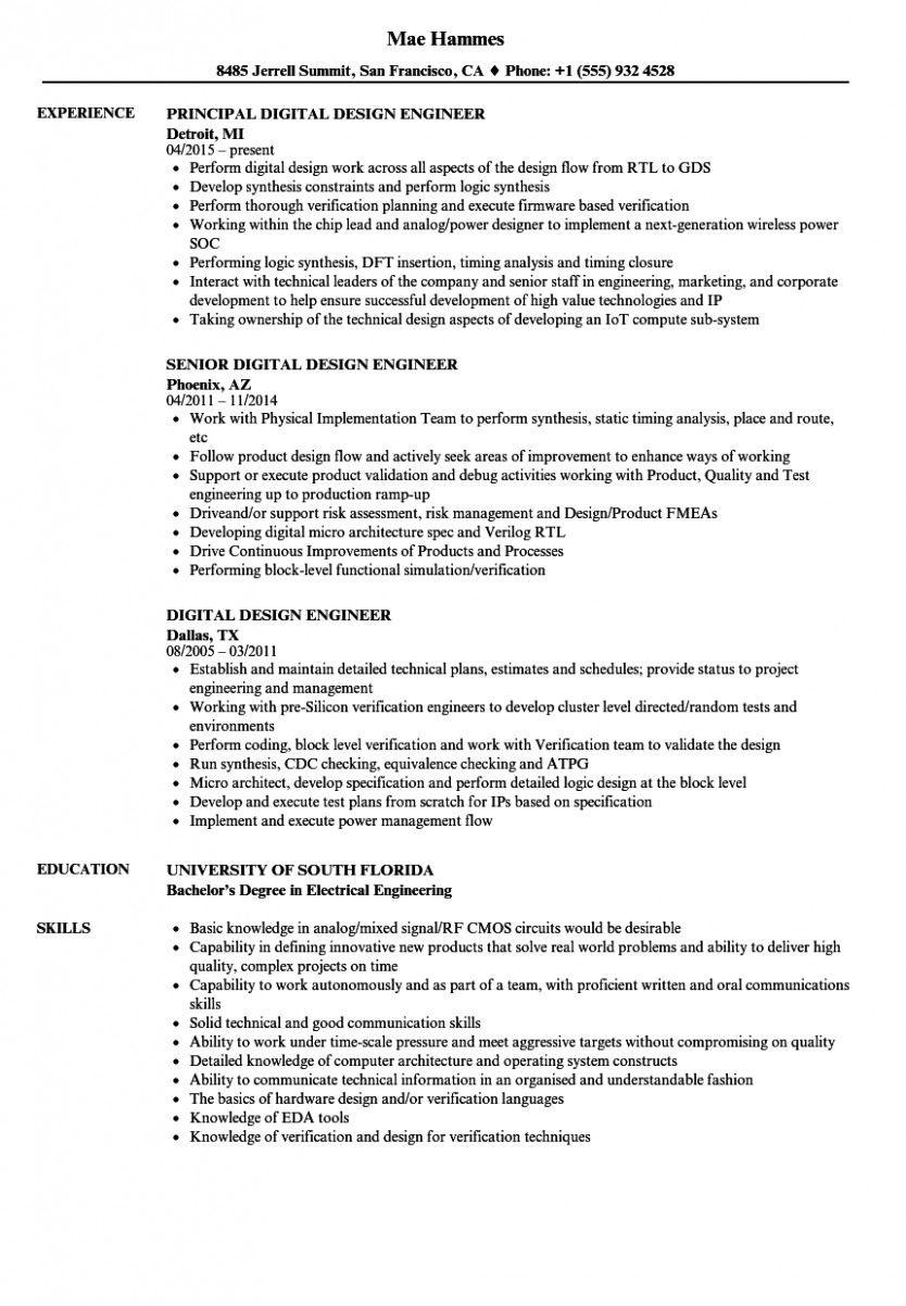 10 Rtl Design Engineer Resume