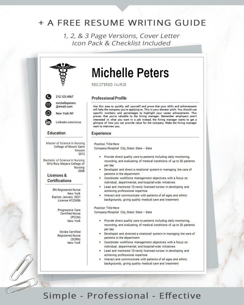 Registered Nurse Resume Template Nursing Resume Medical
