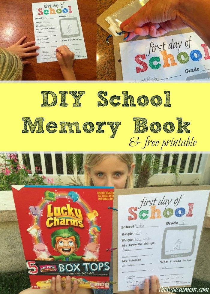 Free first day of school sign and memory book ideas for school that free printable first day paper and diy school memory book idea that is cheap and solutioingenieria Choice Image
