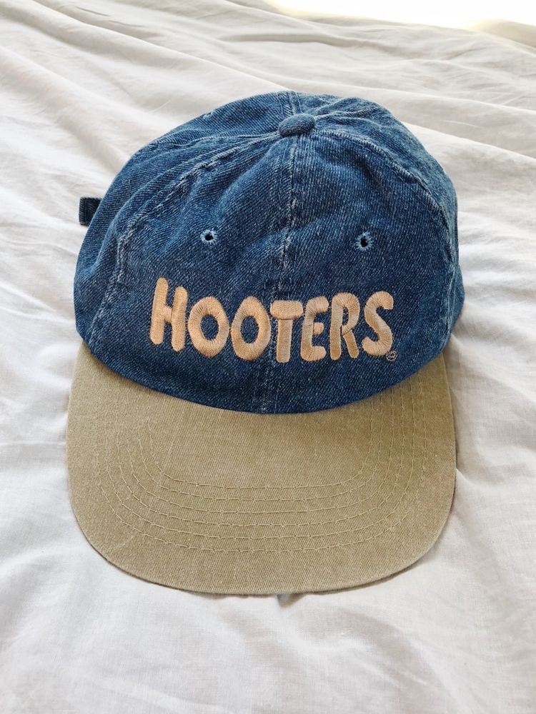 Hooters Sports Bar Hat VTG 90s Rare Denim Embroidered Cap Vintage One Size   Hooters  BaseballCap  vintage  vintagehooters  denim  vintagedenim 0a502b6e5