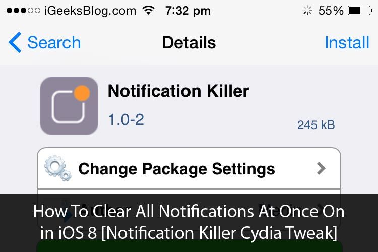 How To Clear All Notifications At Once in iOS 8 on iPhone