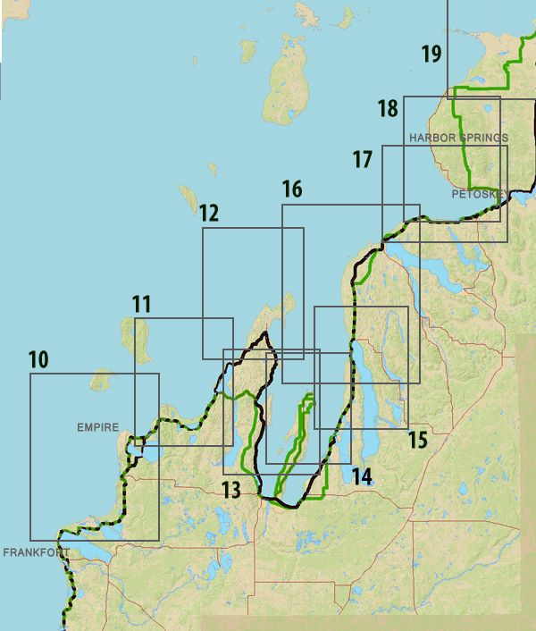 Map Of Southwest Michigan Lakes Tidal Treasures - Map of southwest michigan