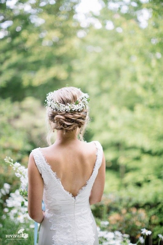 Hair and Makeup by Heather - Hawaii Hair and Makeup Artists - Boho chic hairstyle for a garden wedding
