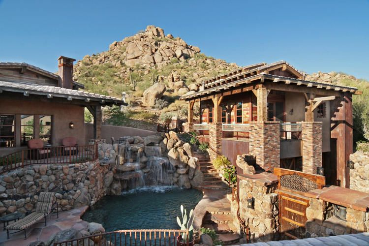 Scottsdale home offers rustic luxury with mountain views for Luxury rustic homes