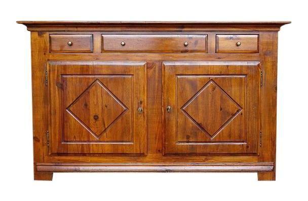 vintage french country oak kitchen buffet sideboard three drawer rh pinterest com Oak Sideboard oak kitchen buffet hutch
