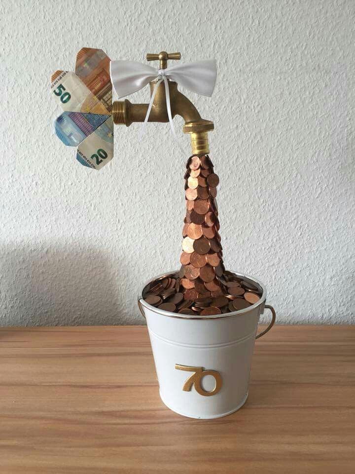 Geldgeschenk Wasserhahn | hochzeitsgeschenk | Gifts, DIY ...