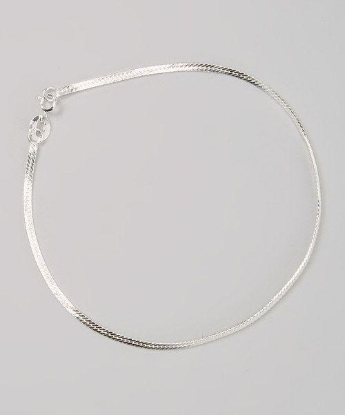 Sterling silver herringbone bracelet or anklet ?