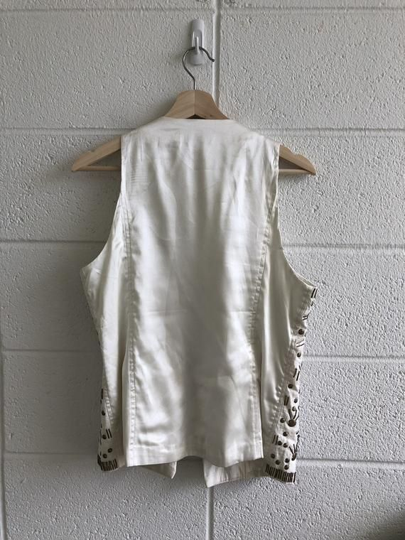 Photo of Embellished Satin Vest
