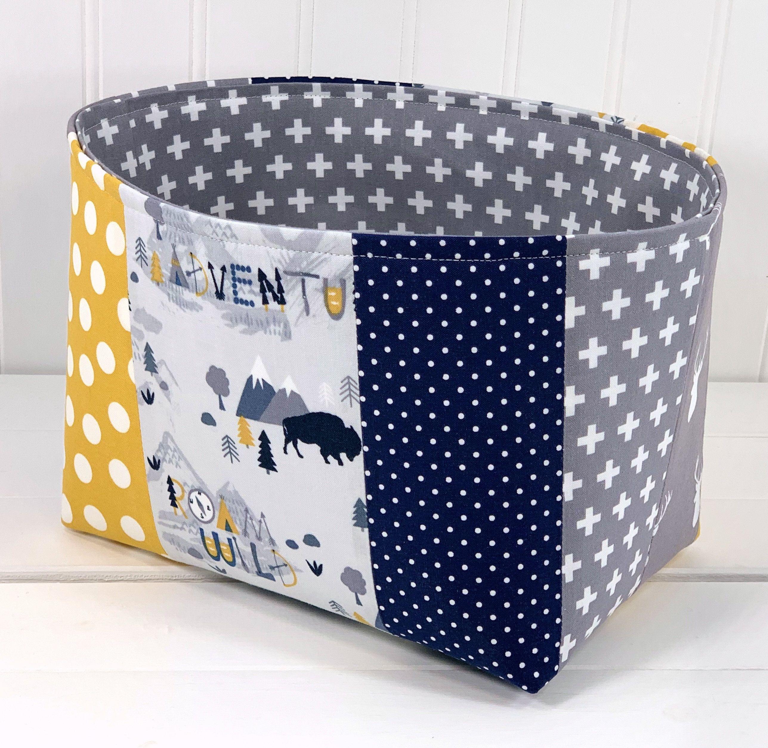 Pin On Fabric Storage Baskets