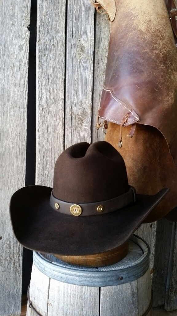 b376e75d Custom hand made cowboy hat , Vintage leather hat band. beaver fur ...