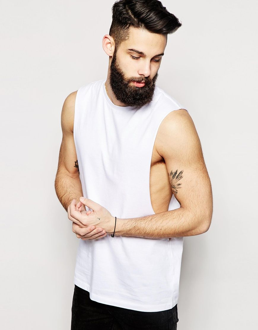 ASOS Sleeveless T-Shirt With Extreme Dropped Armhole