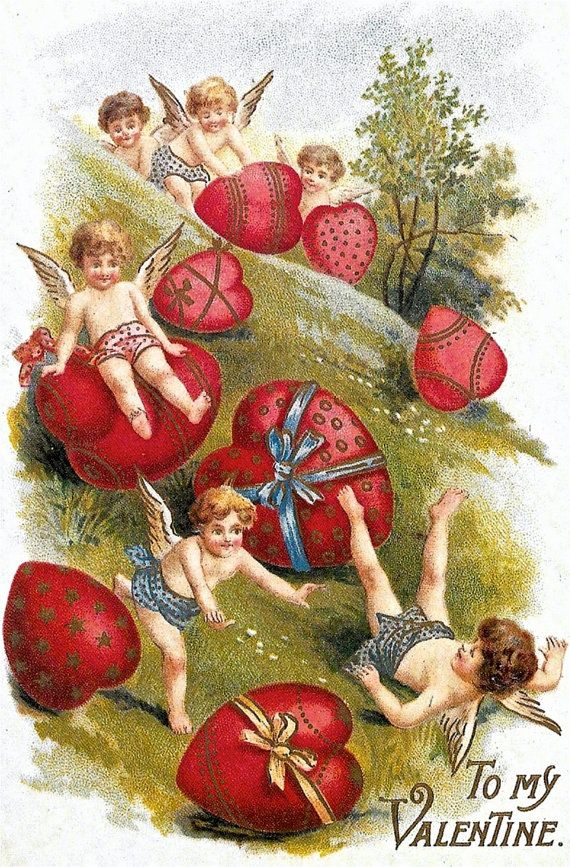 Vintage Victorian Valentine Postcards Couples in by Treehouse58 – Vintage Victorian Valentine Cards
