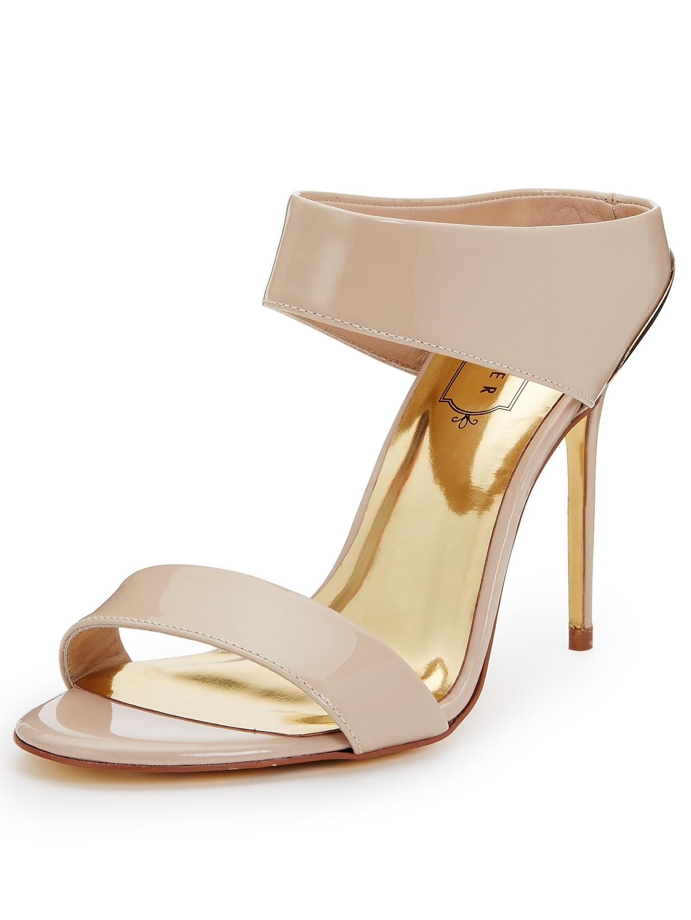 39374df69 Ted Baker Chablis Nude Two Strap Mule Sandals