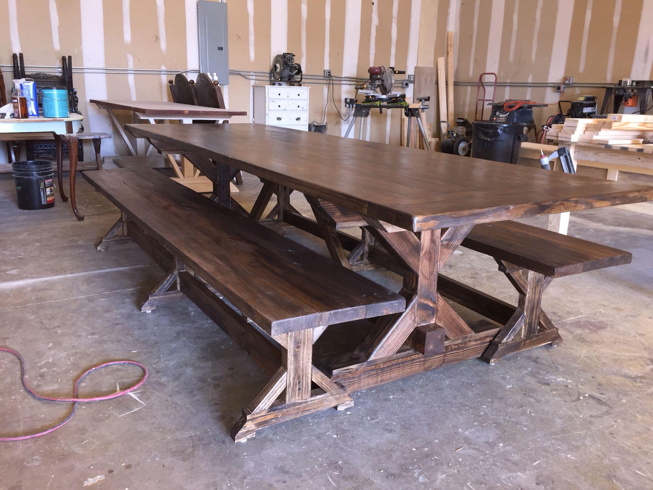 4x4 X Base Farmhouse Table 8 Ft Dining Table Dining Room Table