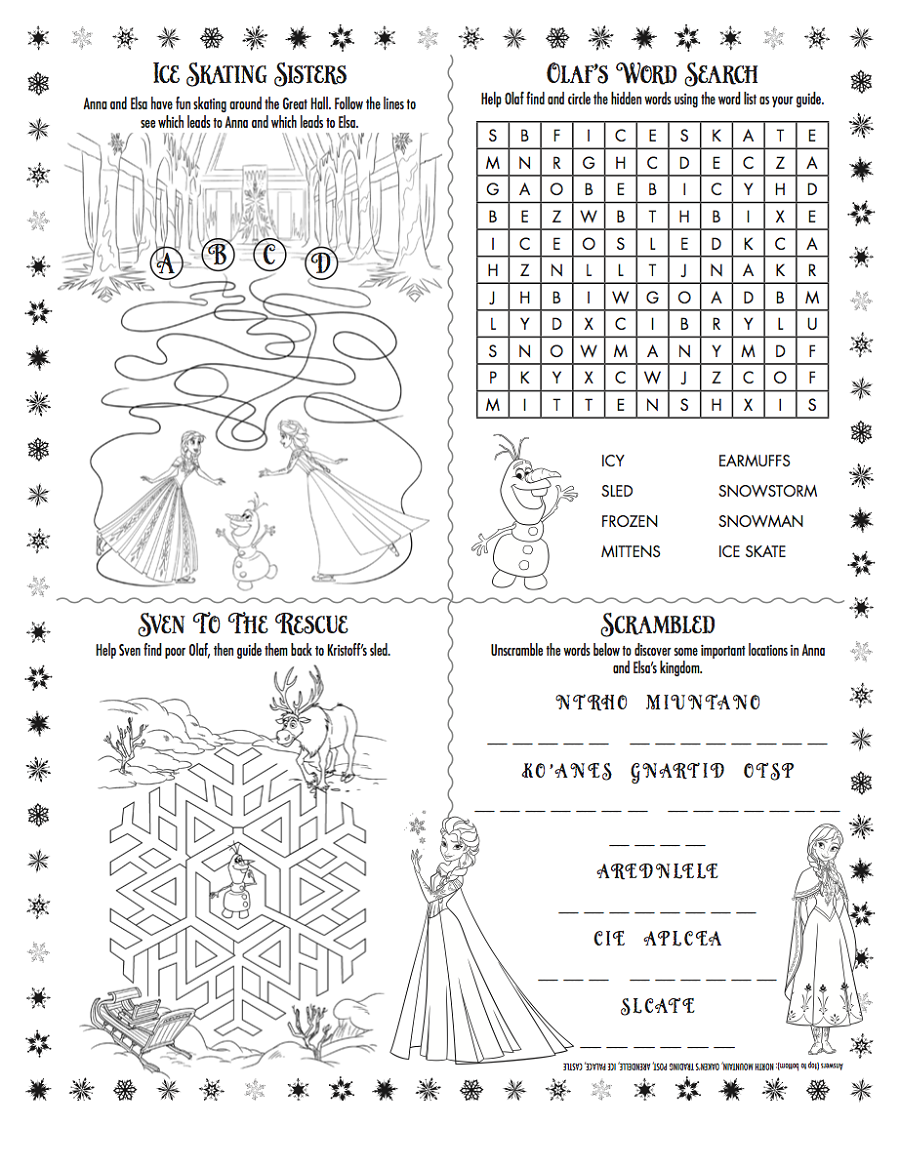 Activity Worksheets For Kids Learning Printable Educative Puzzle
