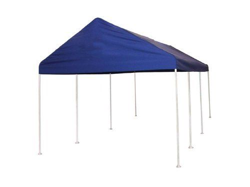 Shelterlogic 10 X 20 Feet Canopy 2 Inch 4 Rib Frame Blue Polyester Cover By Shelter Logic 359 99 Heavy Duty 2 Outside Diameter All Steel Frame Bonded Wi
