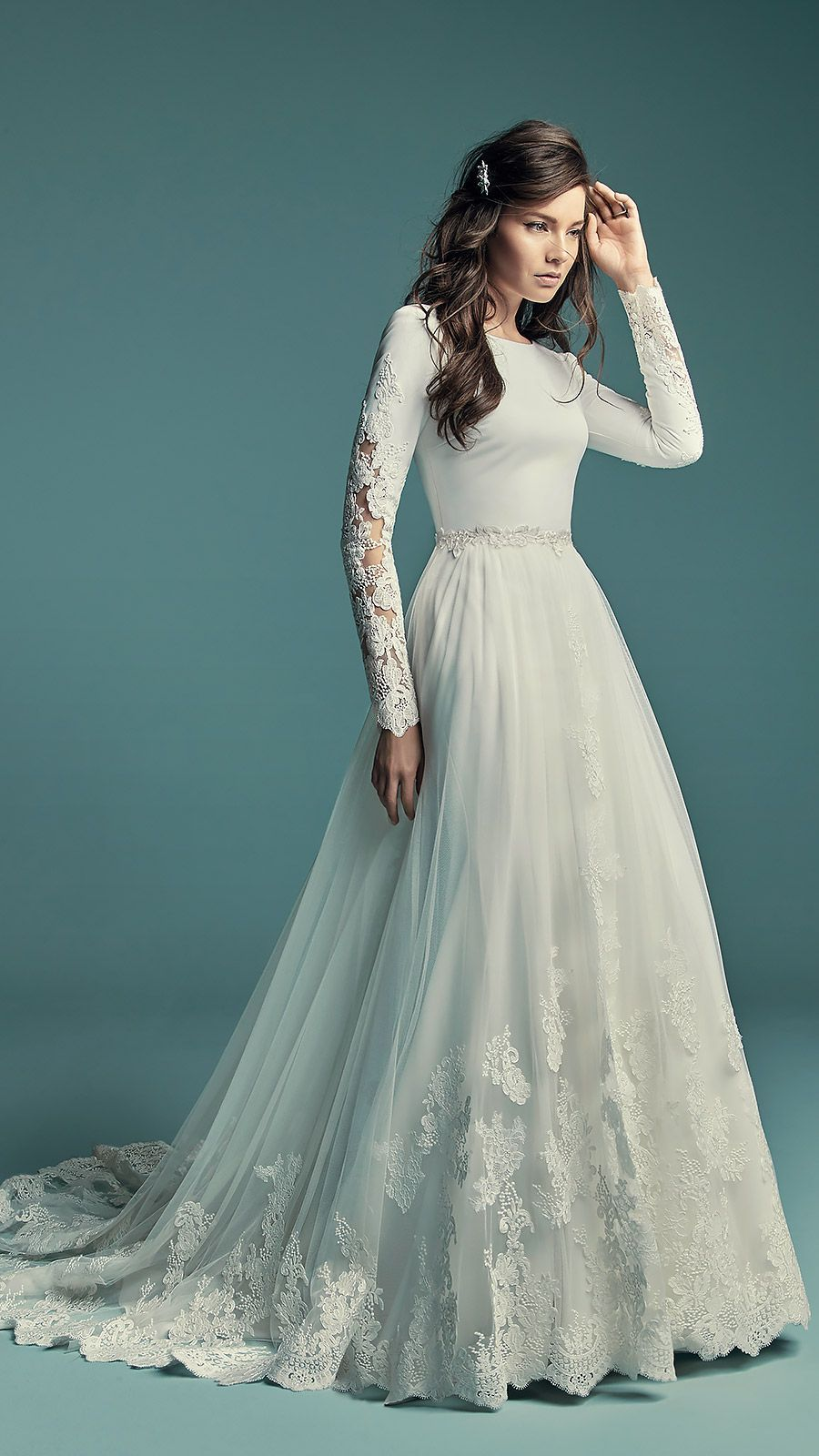 Olyssia By Maggie Sottero Wedding Dresses And Accessories Sleeved Wedding Wedding Dress Long Sleeve Ball Gowns Wedding [ 1600 x 900 Pixel ]