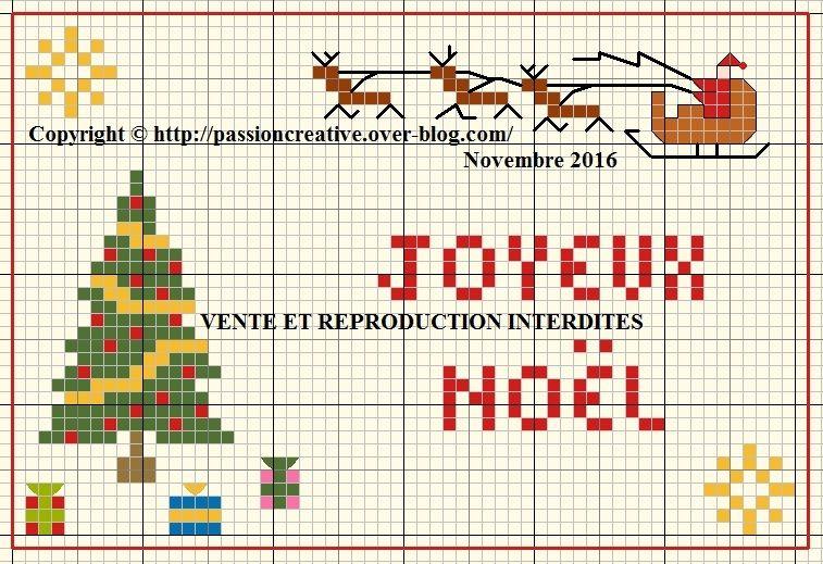 Grille gratuite point de croix : ATC scène de Noël 1 | Point de croix, Modèles de point de croix ...