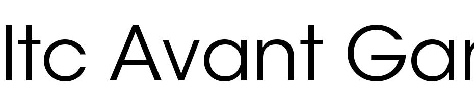 itcavantgardestd-bk font