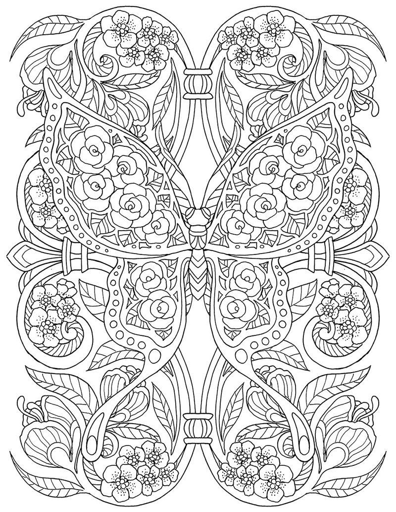 Ausmalbilder Für Erwachsene Schmetterling : Https Www Behance Net Gallery 35753741 Pour Prendre Mon Envol