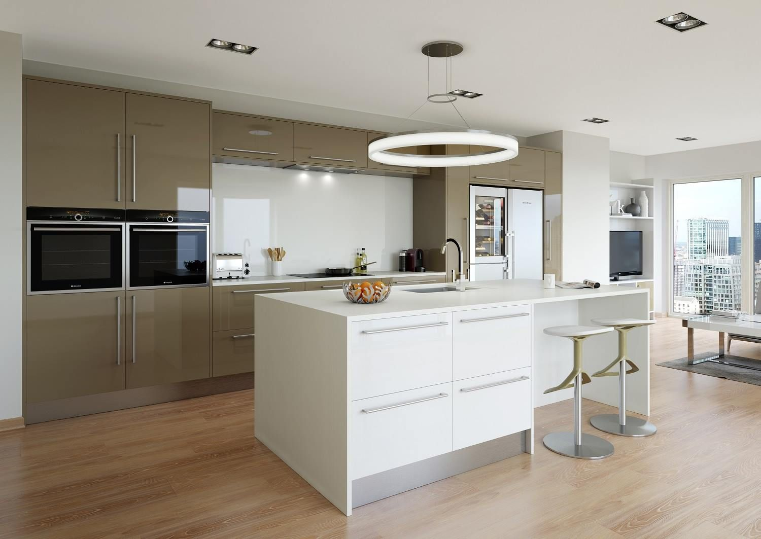 Cappuccino White Gloss Kitchen Konyhak Kitchen Gloss Kitchen Es