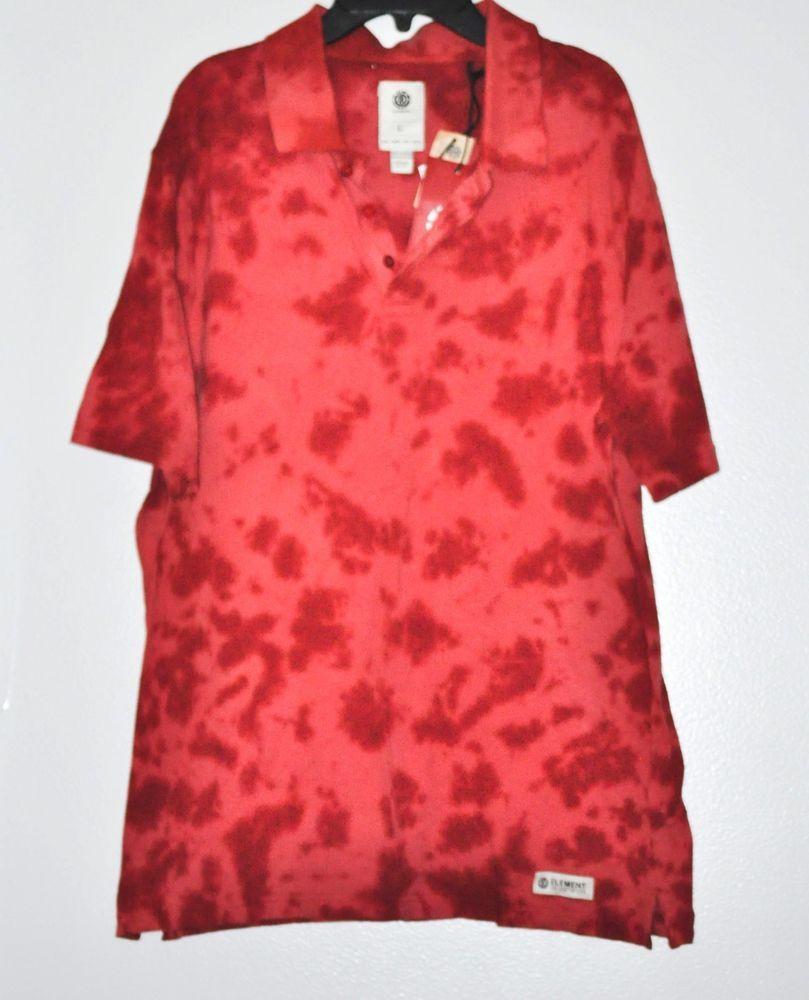 Details about element men freddie polo shirt brick slim fit classic
