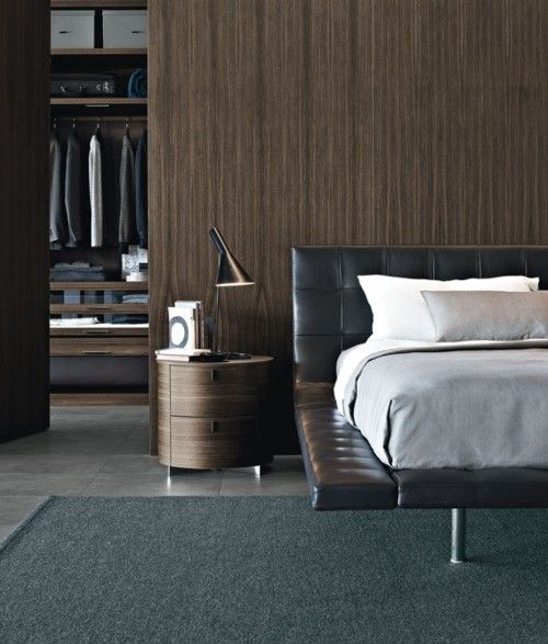 Walnut And Leather Bedroom
