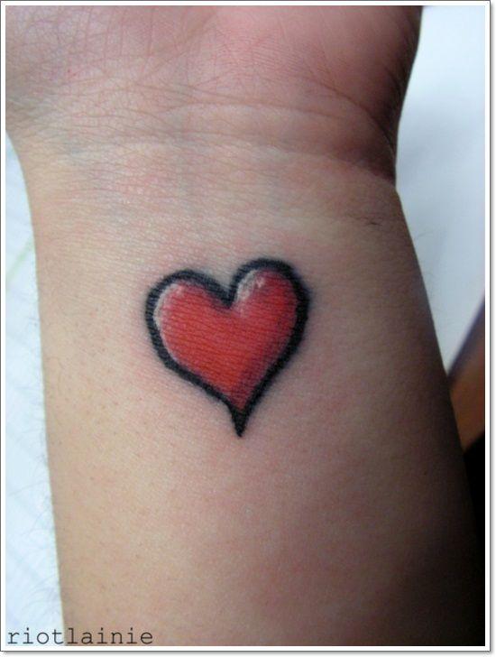 Simple Heart Tattoo Design Wrist Girl Love Passion Body Art Skin Ink Jpg 550 728 Pixels Simple Heart Tattoos Tattoo Designs Wrist Red Heart Tattoos