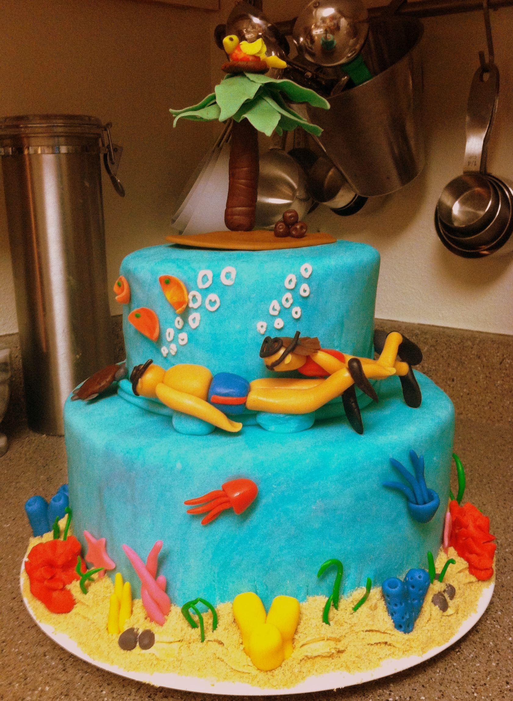 Snorkel Anniversary Cake Coconut Cake With Coconut And Macadamia