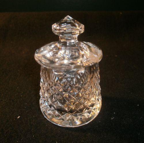 Waterford Crystal Salt Cellar Small Sugar Bowl With Lid