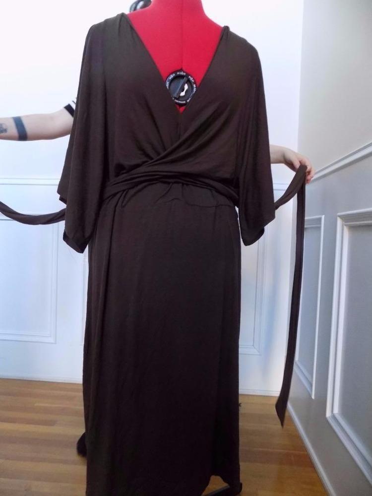 Stretch Knit Wrap Waist Dress Chadwicks Size 18 Wrap Dress Chocolate