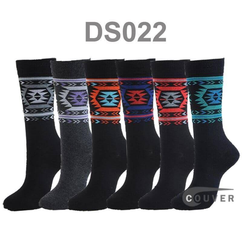 Mens Cotton Designer Dress Socks Styles Pattern 6 Pairs Bundle WHOLESALE Men's 2 Colored Stripes Designed Dress Socks : COUVER SWEATBANDS & SOCKS